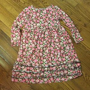 Hartstrings Flower print cotton dress size 6X